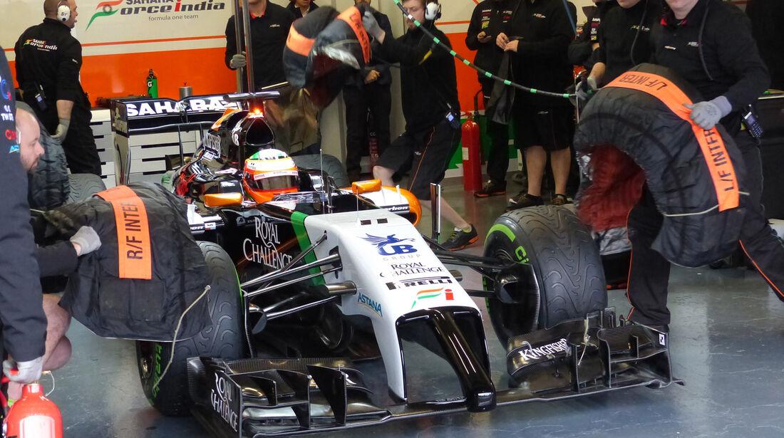 Sergio Perez - Force India - Formel 1 - Test - Jerez - 29. Januar 2014