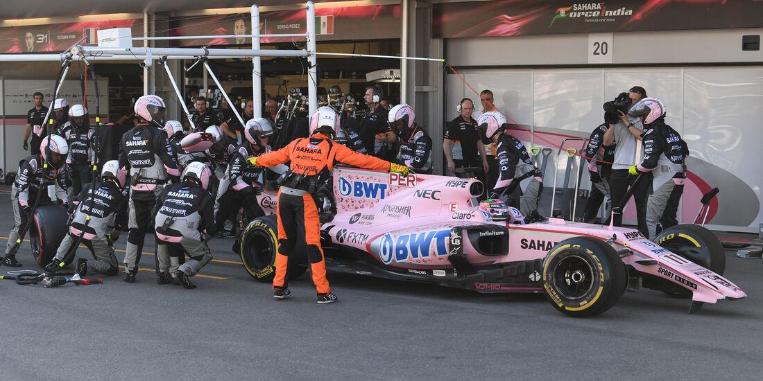 Sergio Perez - Force India - GP Aserbaidschan 2017 - Baku - Rennen