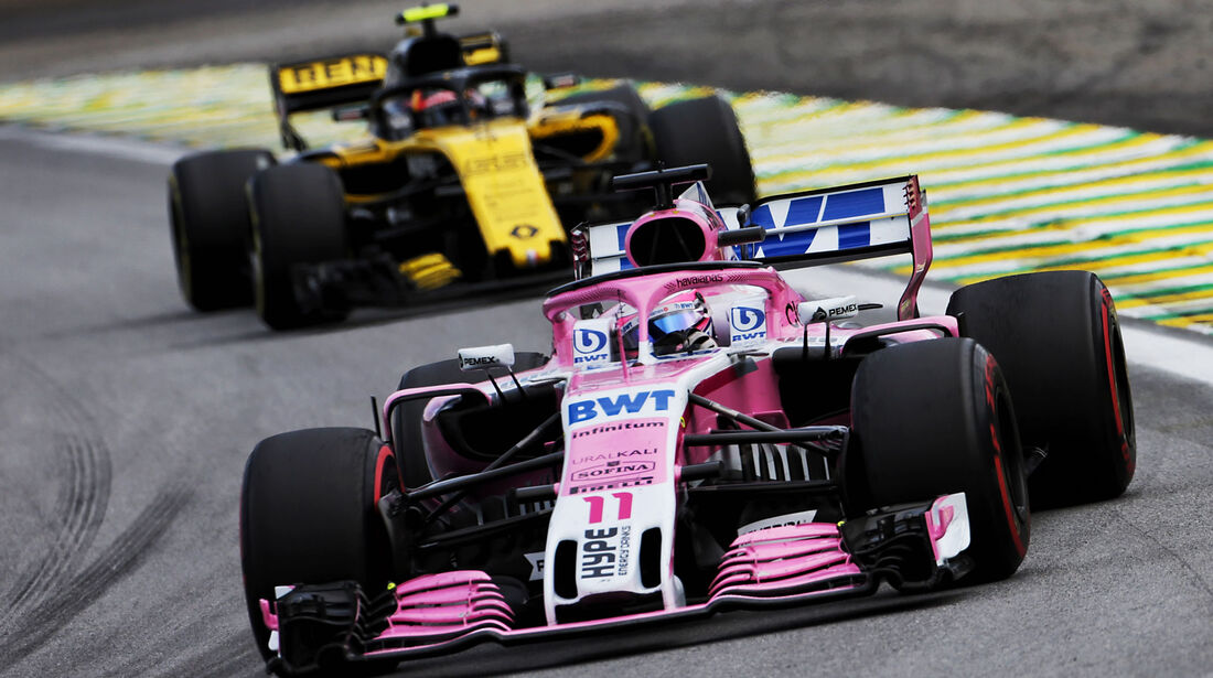Sergio Perez - Force India - GP Brasilien 2018 - Rennen