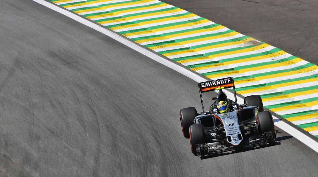 Sergio Perez - Force India - GP Brasilien - Interlagos - Freitag - 11.11.2016