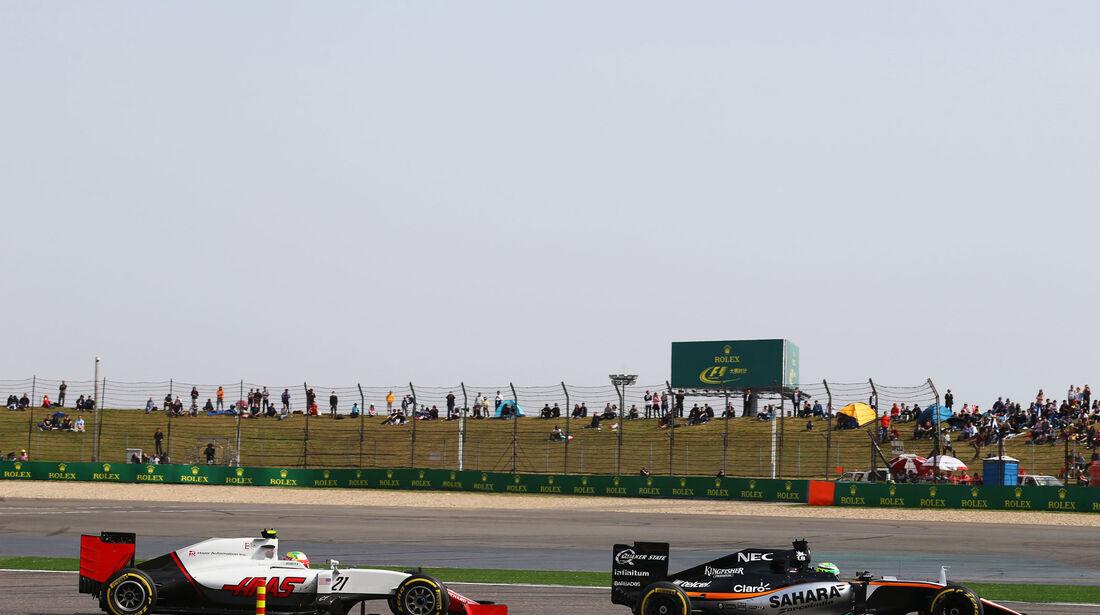 Sergio Perez - Force India - GP China 2016 - Shanghai - Rennen