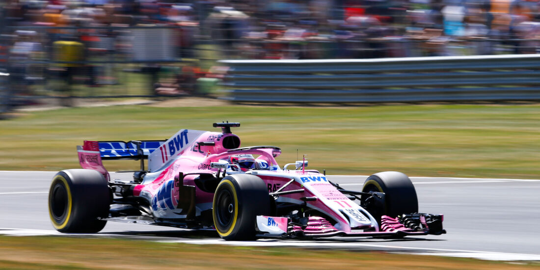 Sergio Perez - Force India - GP England - Silverstone - Formel 1 - Samstag - 7.7.2018