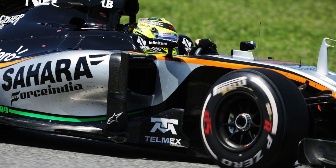 Sergio Perez - Force India - GP Spanien 2016 - Barcelona - Sonntag - 15.5.2016
