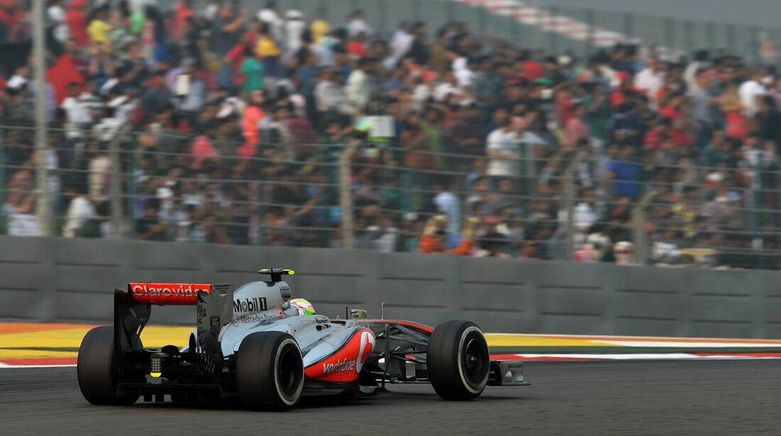 Sergio Perez - McLaren - Formel 1 - GP Indien - 27. Oktober 2013