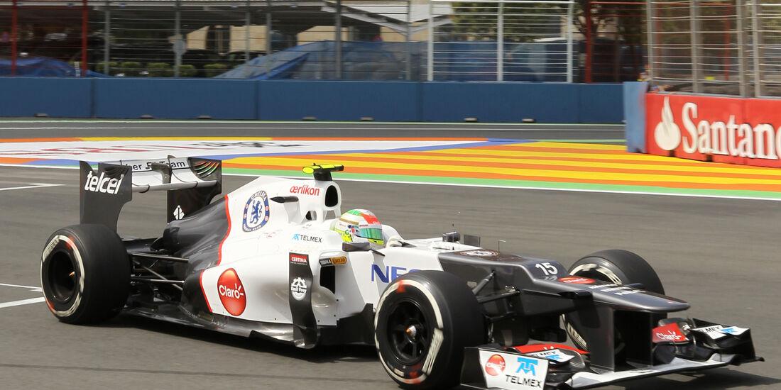 Sergio Perez - Sauber - GP Europa - Valencia - Formel 1 - 22. Juni 2012