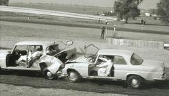 Sicherheitstechnik, Crashtest, Auffahrunfall, Mercedes W111