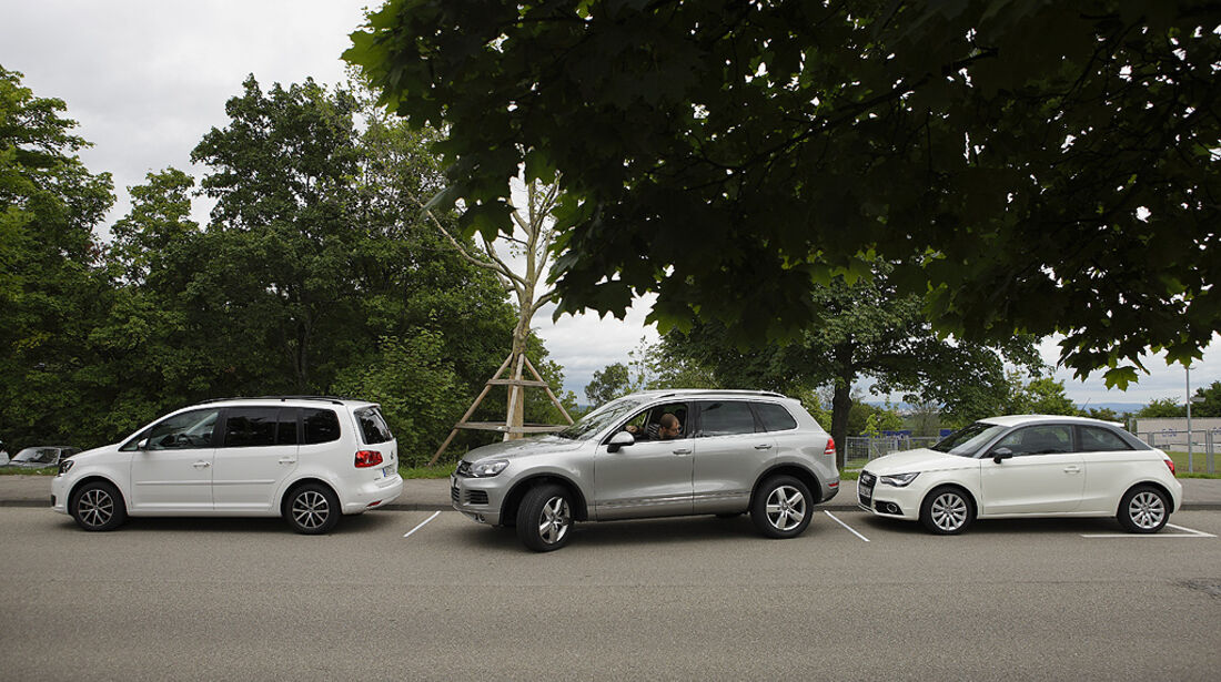Sichtfeld Parksituation, VW Touareg