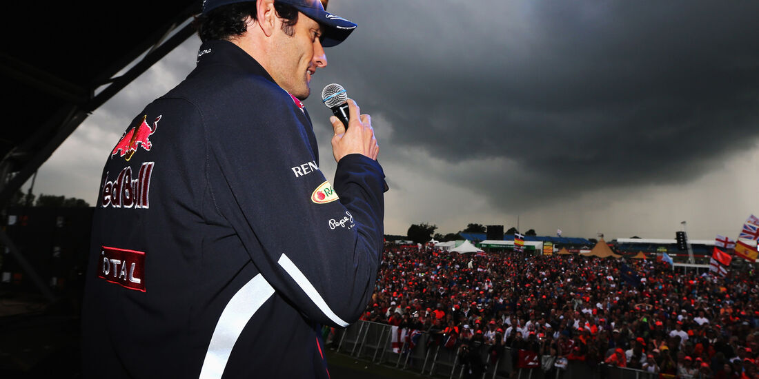 Silverstone Party Webber Formel 1 2012 GP England
