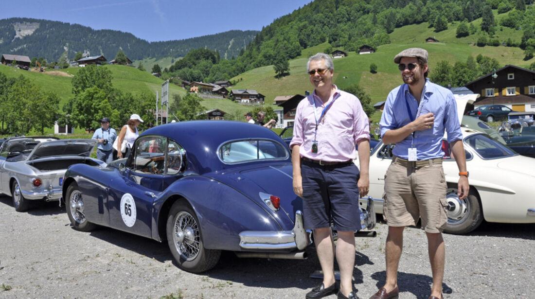 Silvretta Classic 2010 - Alexander und Max Krahé auf Jaguar XK 140