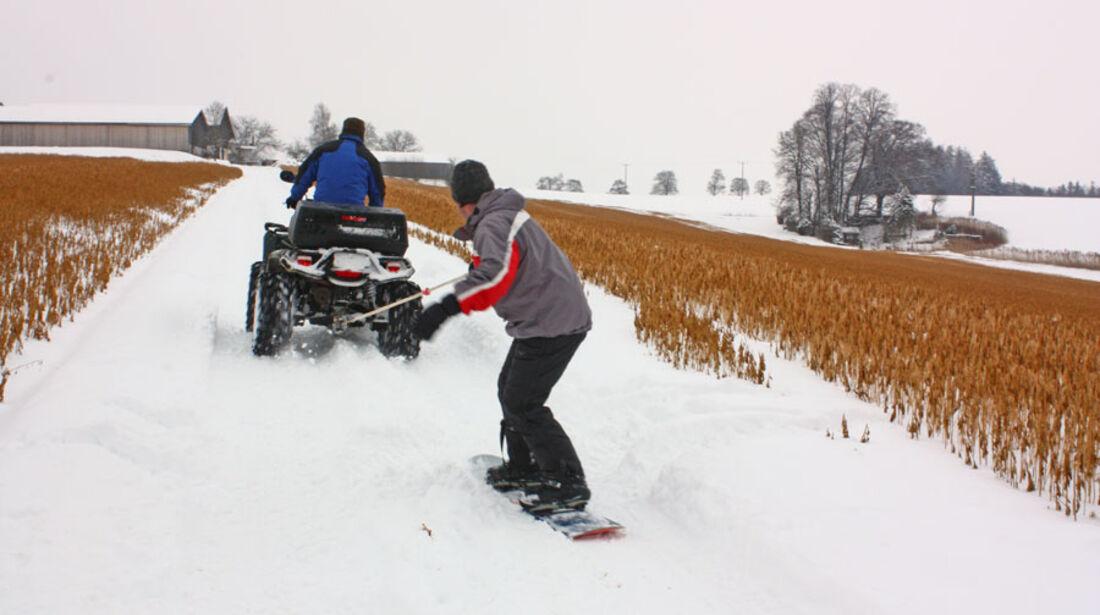 Skijöring, ATV, Winter, Snowboard, Schnee