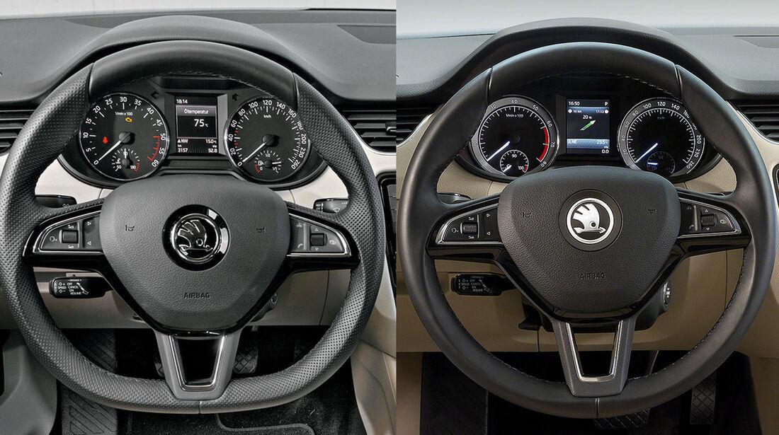 Skoda Octavia Facelift Montage alt neu