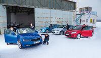 Skoda Octavia, Ford Focus, Hyundai i30, Opel Astra, Frontansicht