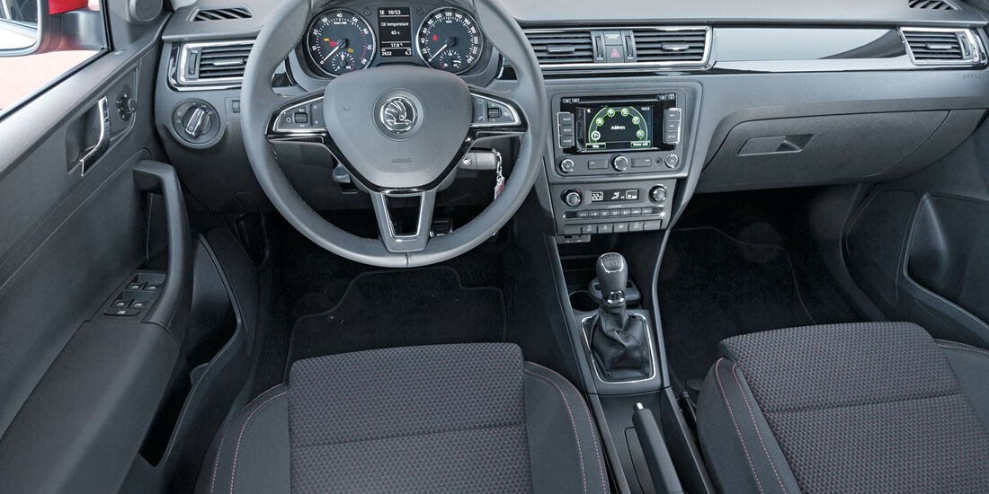 Skoda Rapid Spaceback, Cockpit