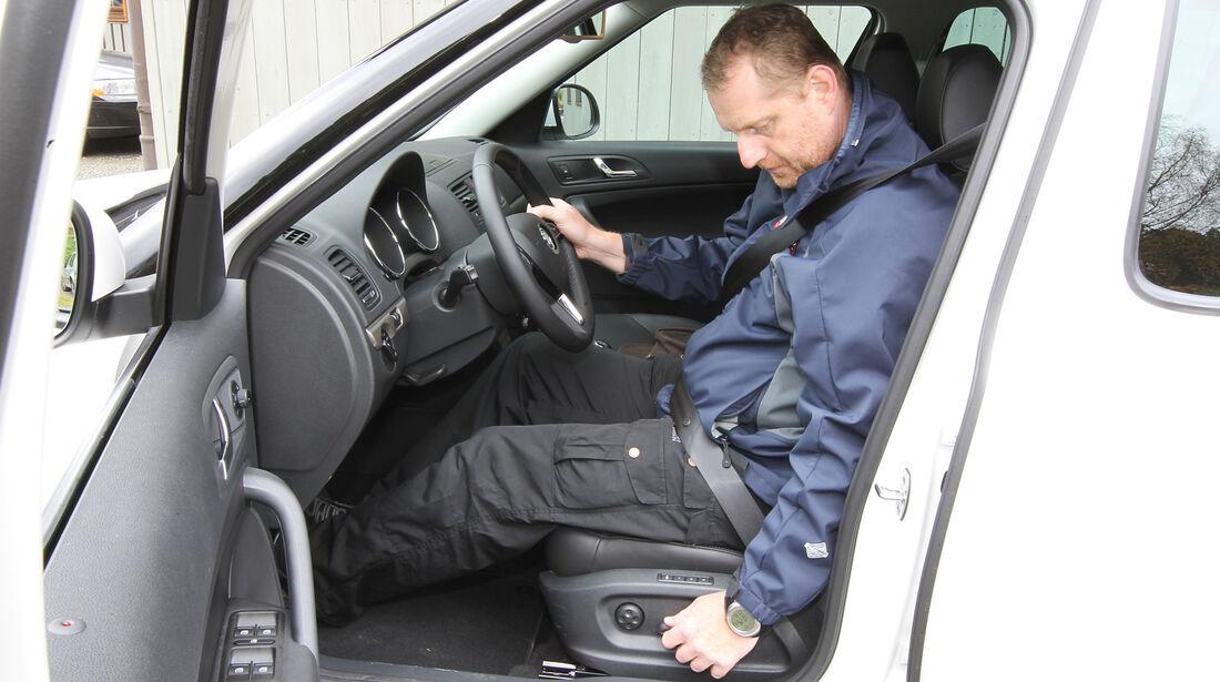 Skoda Yeti, Fahrersitz