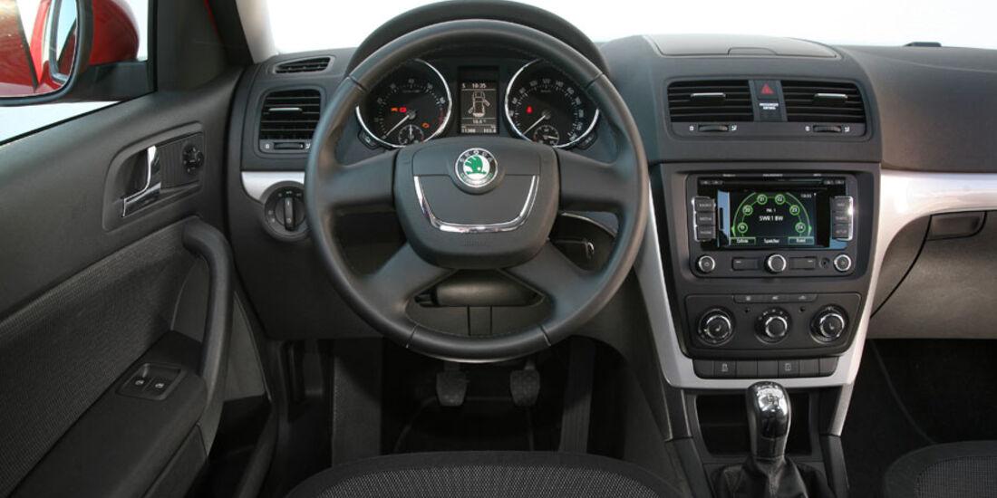 Skoda Yeti, Innenraum, Cockpit