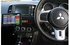 Skurrile Polizeiautos, Streifenwagen, Mitsubishi Lancer Evo X, Cockpit