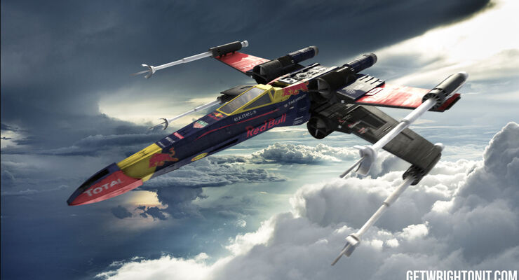 Star Wars X-Wing im F1-Design - Red Bull