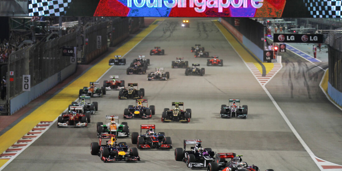 Start F1 Singapur 2012
