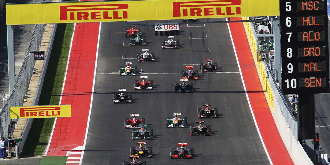Start Formel 1 Austin GP USA 2012