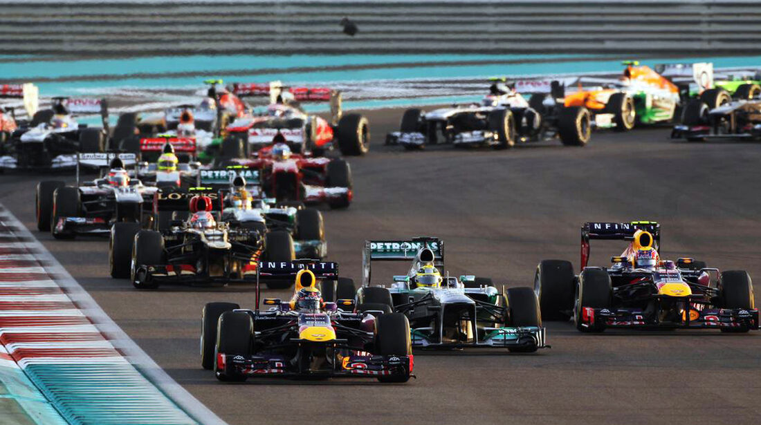 Start - Formel 1 - GP Abu Dhabi - 03. November 2013
