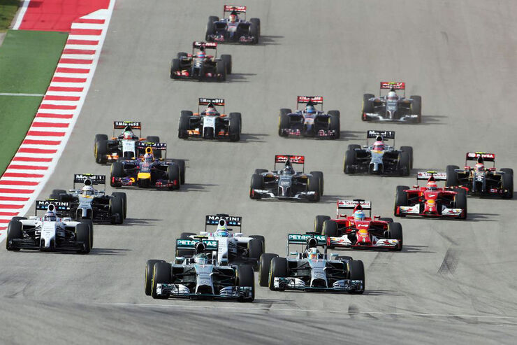 Start - Formel 1 - GP USA - 2. November 2014