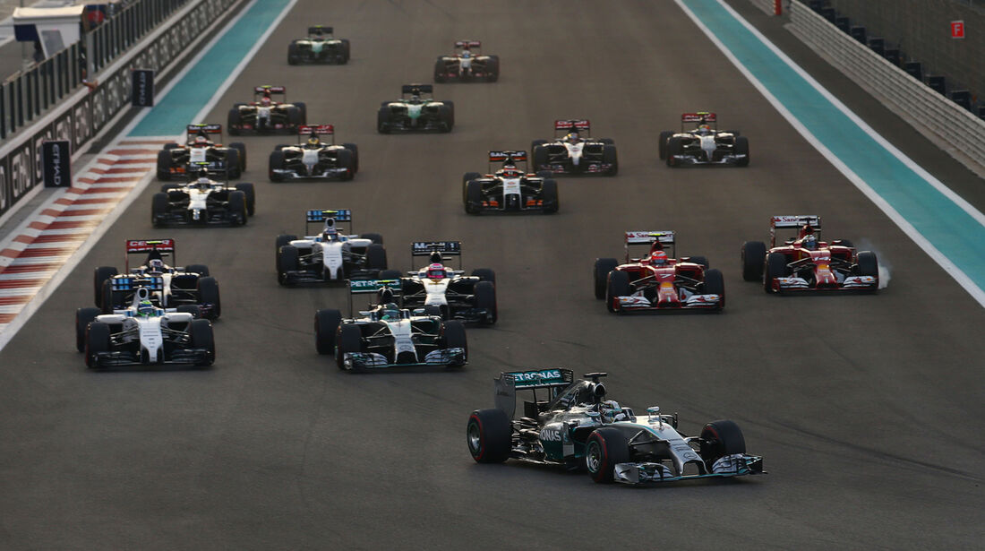 Start - GP Abu Dhabi 2014