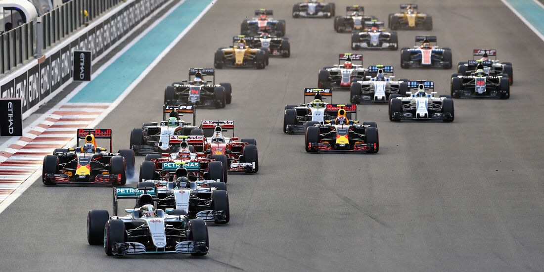 Start - GP Abu Dhabi 2016