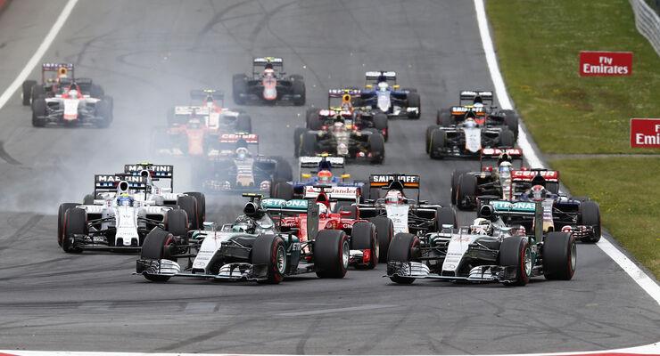 Start - GP Österreich 2015