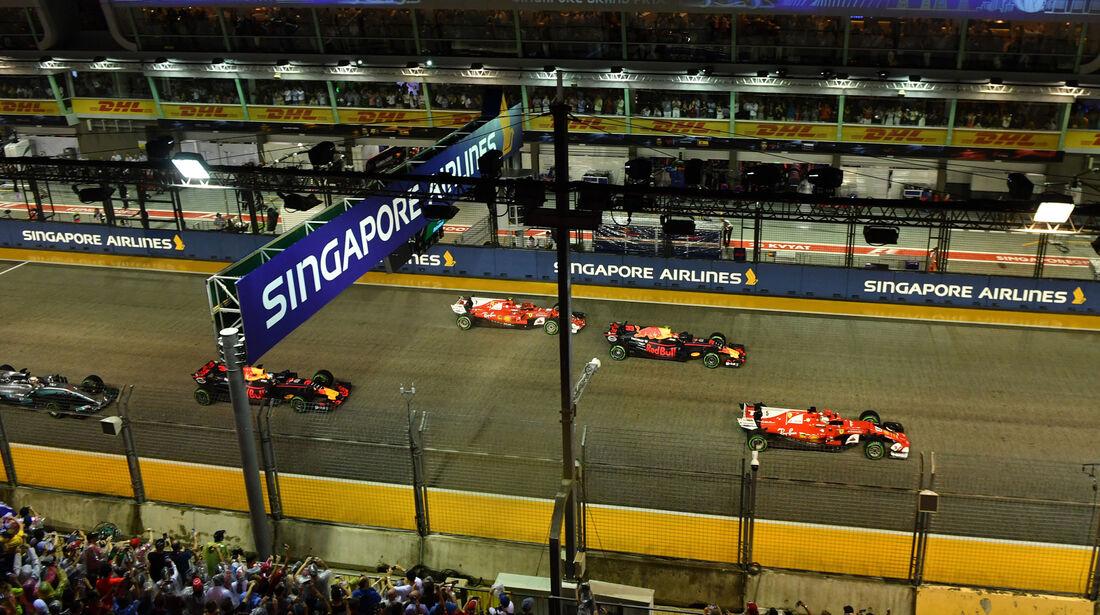 Start - GP Singapur 2017 - Rennen