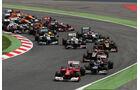 Start GP Spanien 2012