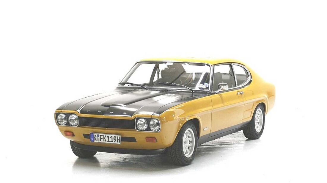 Startnummer 127: Hartwig Petersen und Jörn Thomas im Ford Capri RS, 2,6 Liter, V6, 150 PS, Baujahr 1971, Team Ford.