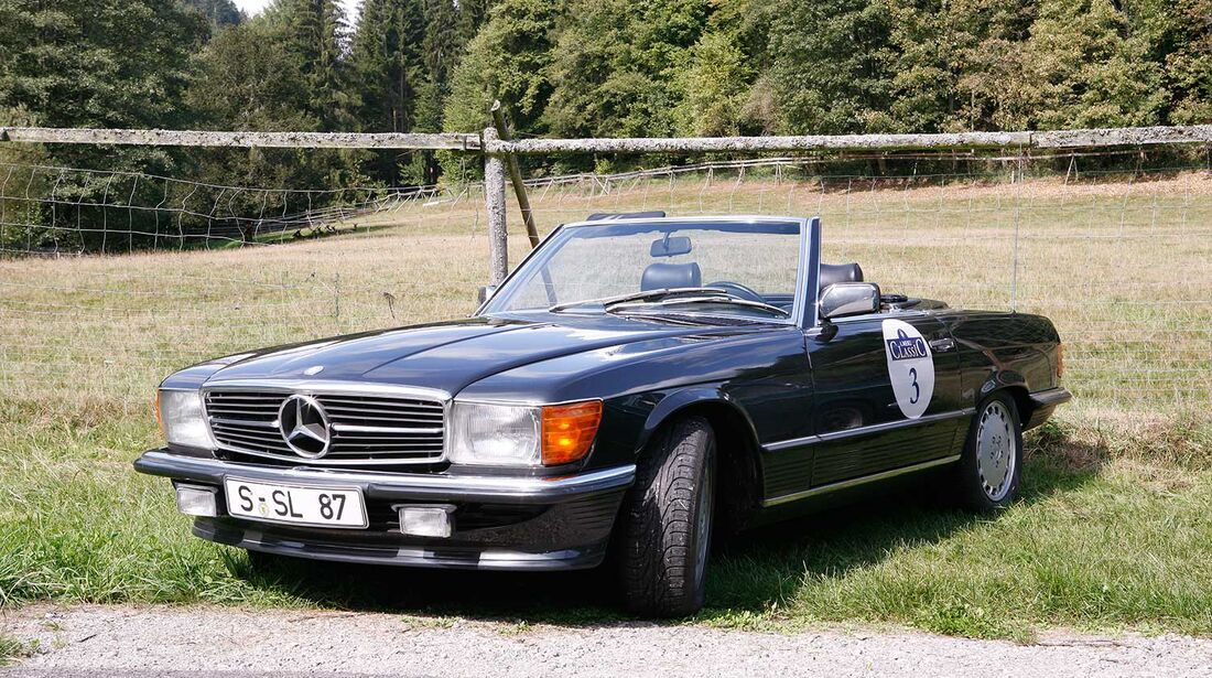 Startnummer 145: Dr. Eberhard Schlegel und Jörg Mannsperger im Mercedes-Benz 300 SL, 3 Liter, 6-Zyl. Reihe, Baujahr  1987, Team DEKRA.