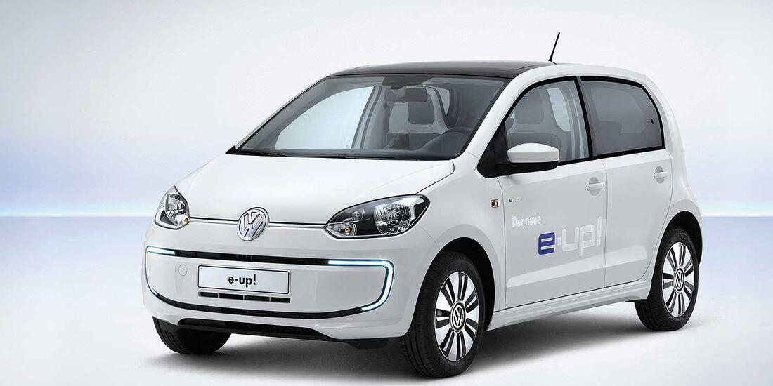 Startnummer 216: Team Volkswagen im Volkswagen e-up, 40 - 60 kw, 160 km Reichweite.