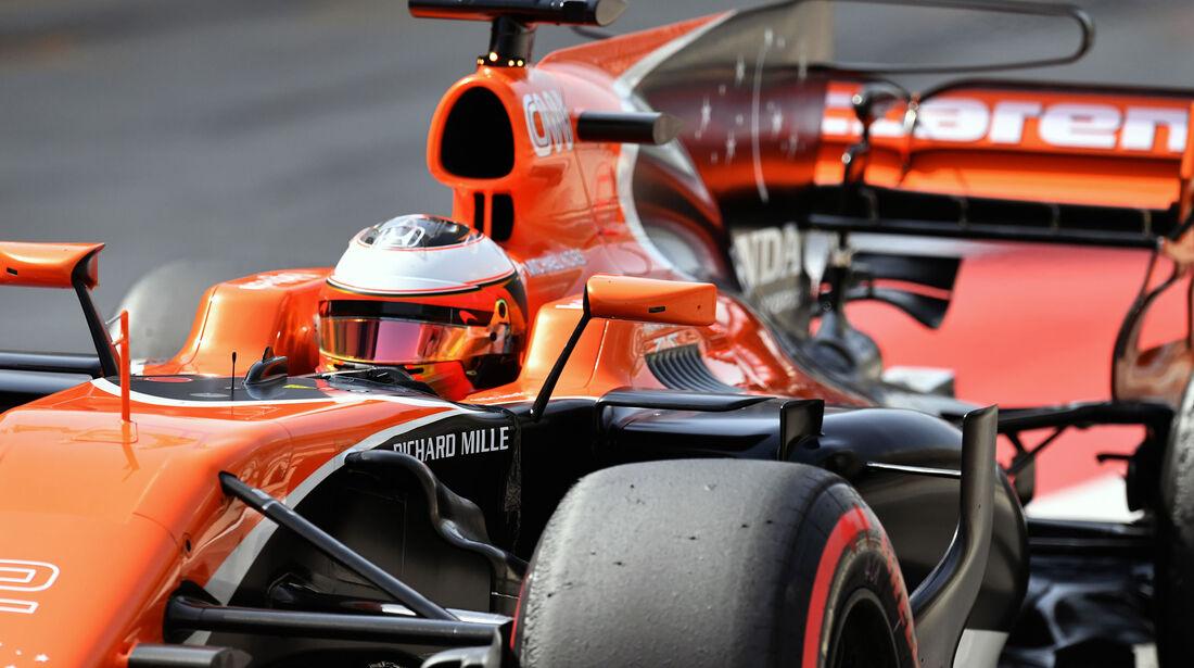 Stoffel Vandoorne - McLaren-Honda - Formel 1 - Testfahrten - Bahrain - Mittwoch - 19.4.2017