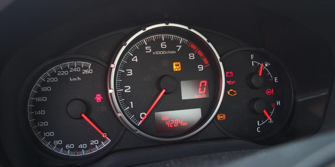 Subaru BRZ, Rundelemente, Tacho
