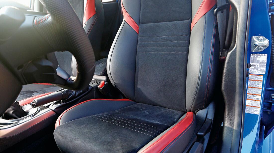Subaru WRX STI, Fahrersitz