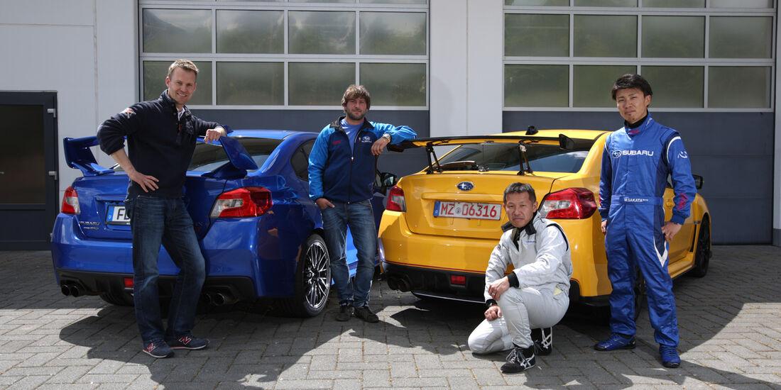 Subaru WRX STI, Testwagen, Testfahrer