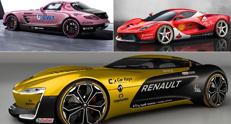 F1-Lackierungen auf Sportwagen