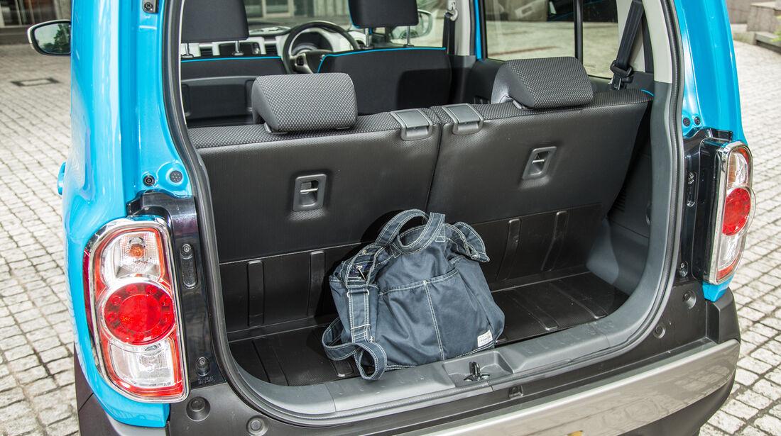 Suzuki Hustler X Turbo 4WD, Kofferraum