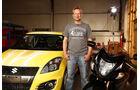 Suzuki Swift Sport Hayabusa, Kleinwagen, Umbau, Motorrad, Niki Schelle