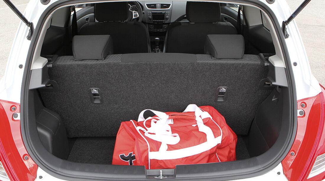 Suzuki Swift Sport, Kofferraum
