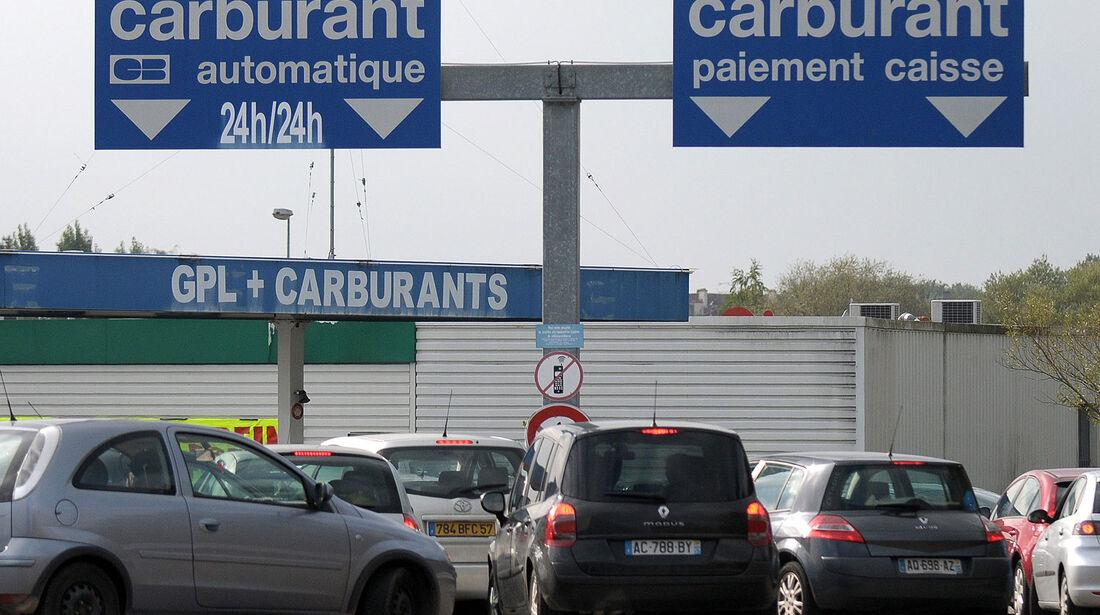 Tankstelle Frankreich Benzin