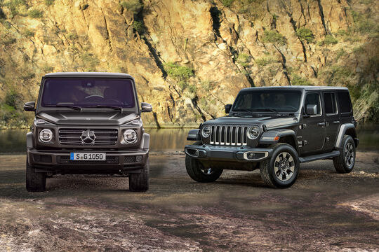 Teaserbild Jeep Wrangler vs. Mercedes G-Klasse