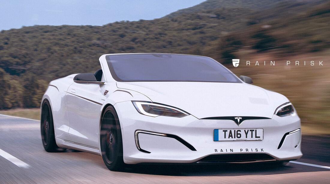 Tesla Cabrio - Fantasie-Auto