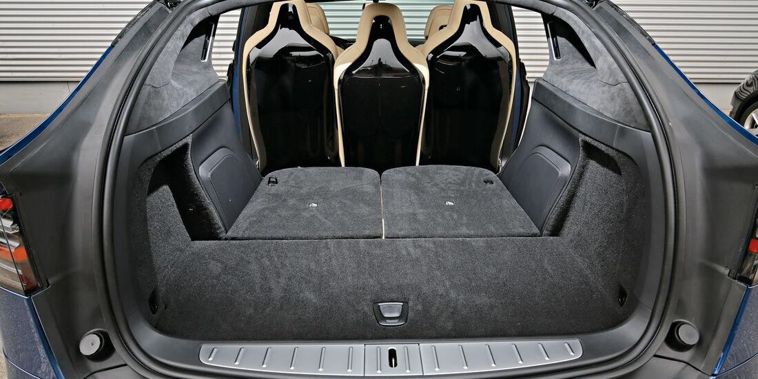 Tesla Model X P90D, Kofferraum