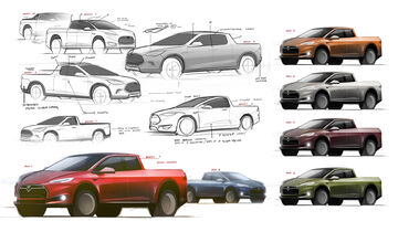 Tesla Pickup Sketch carwow
