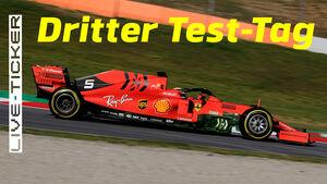 Ticker-Teaser - Sebastian Vettel - Barcelona-Test - 2019