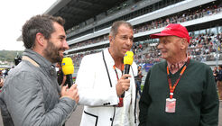 Timo Glock, Kai Ebel & Niki Lauda - RTL - Formel 1