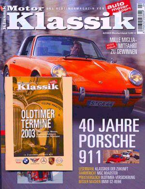 Titel Motor Klassik, Heft 04/2003