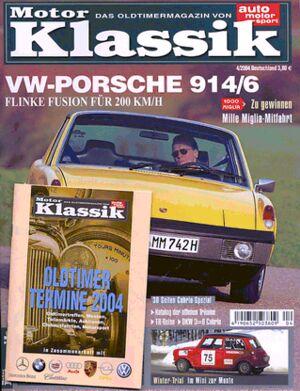 Titel Motor Klassik, Heft 04/2004